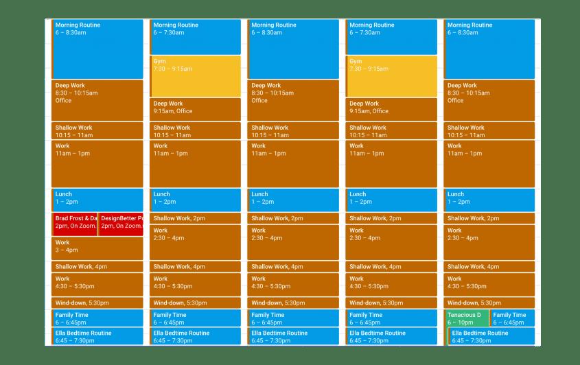 Time Blocked Calendar