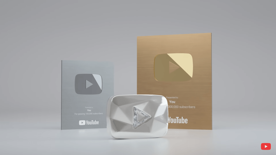 All YouTube play buttons