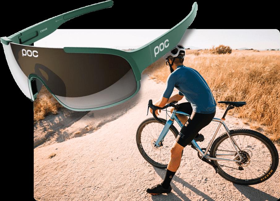 Paire de lunette pour cycliste