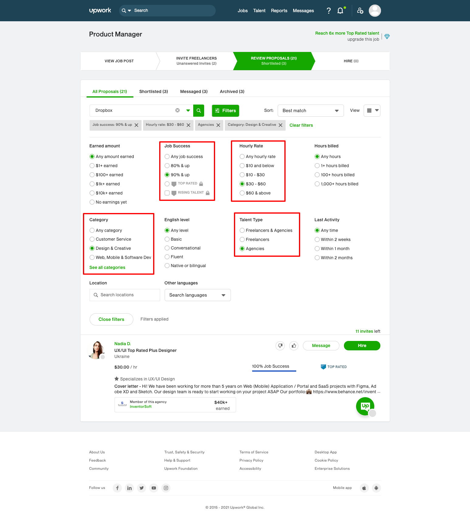 Strategy for getting agency partners from Upwork