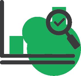 Data analytics icon.