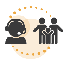 Family Support Team Icon.