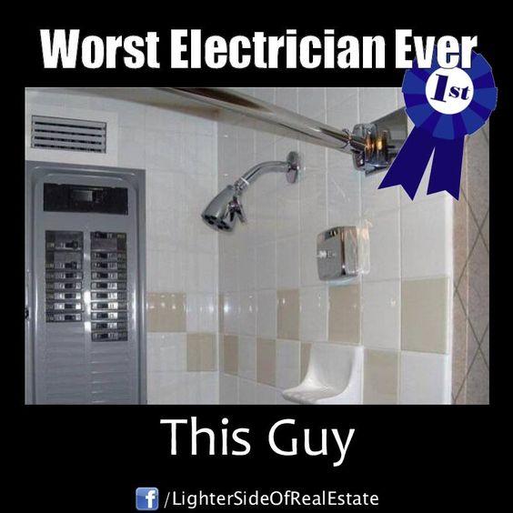 Electrician Meme: Worst electrician ever