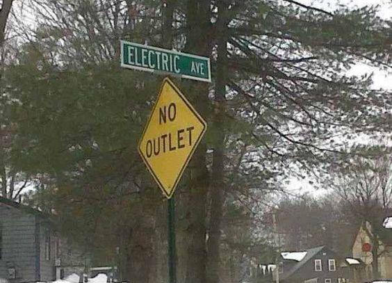 Electrician Meme: Electric Avenue, No Outlet