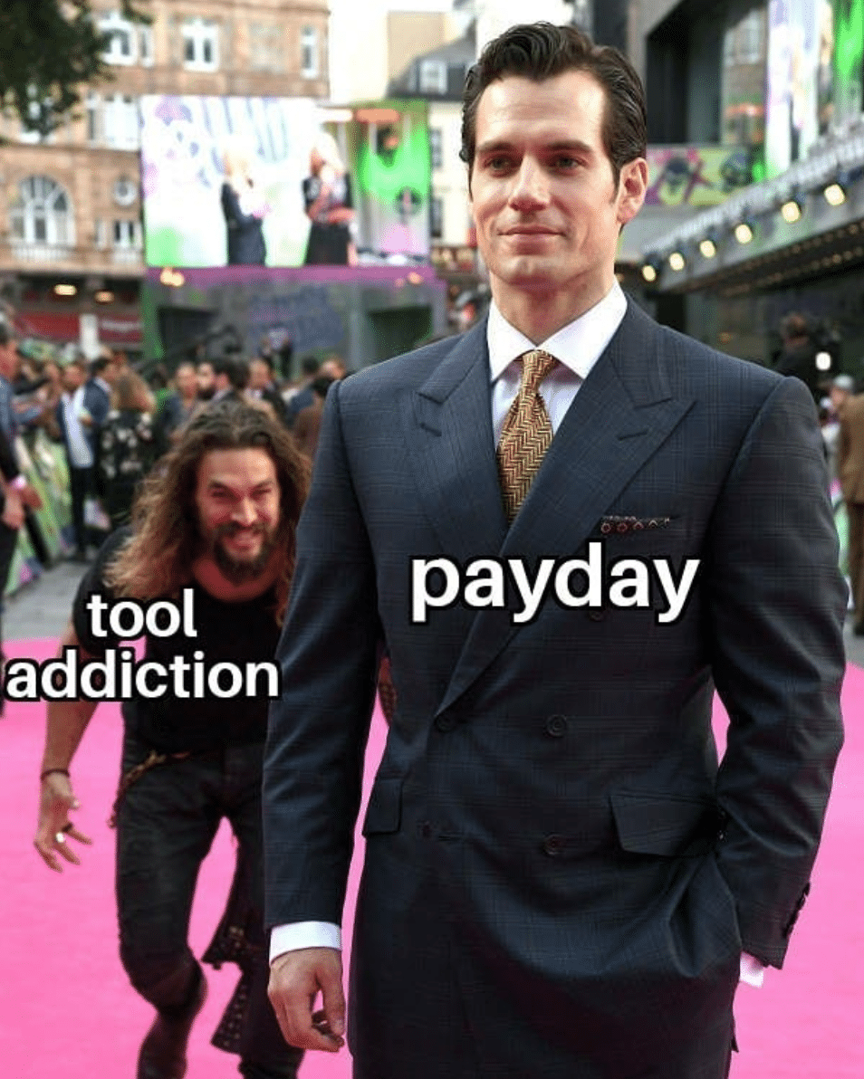 Electrician Meme: Tool Addiction vs. Payday