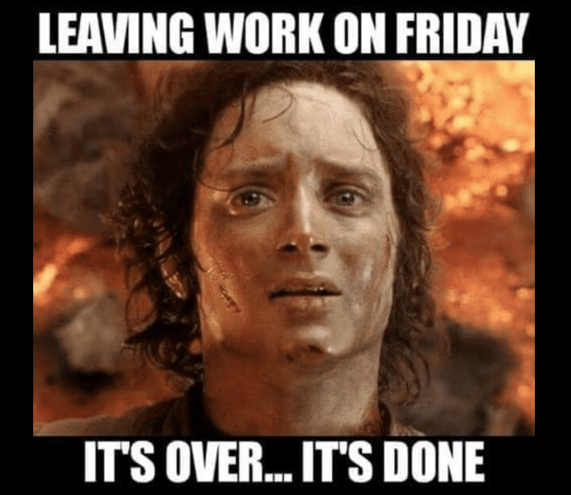 Electrician Meme: Leaving work on a friday