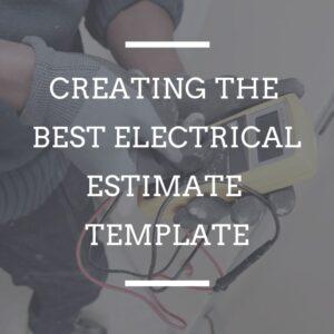 Best Electrician Estimate Template