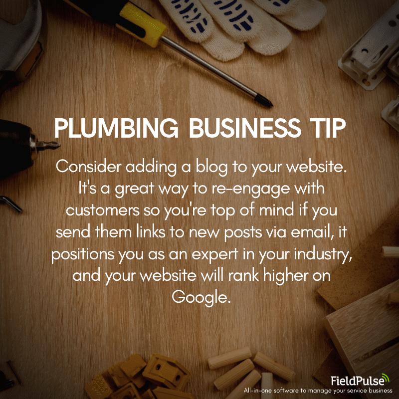 Plumbing Business Tip Blogging