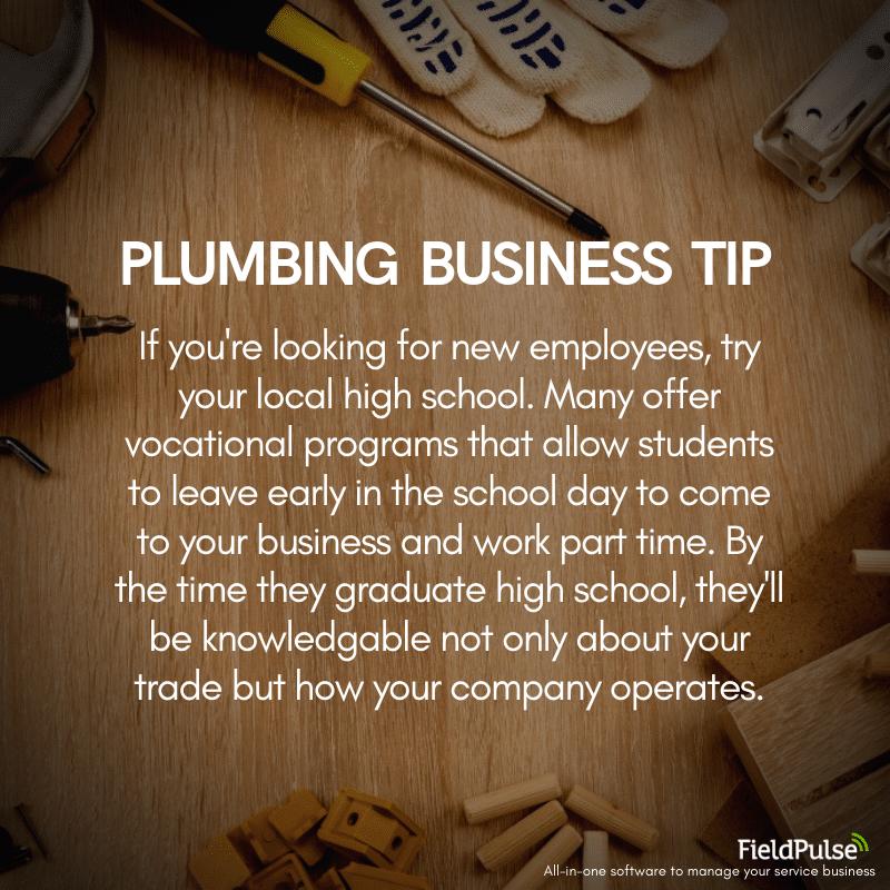 Plumbing Business Tip Hiring