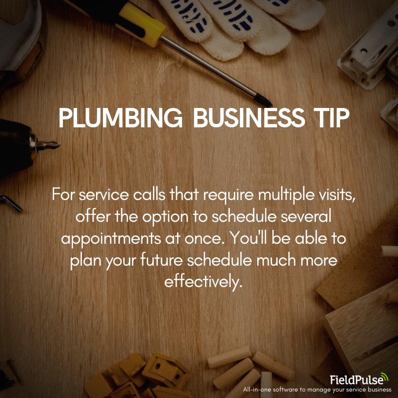 Plumbing Business Tip Scheduling