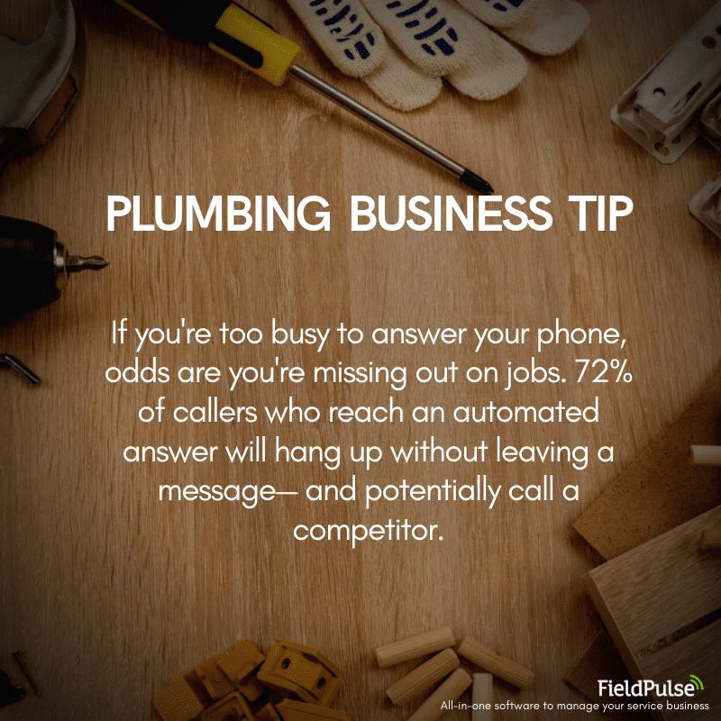 Plumbing Business Tip Receptionists