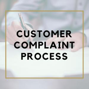 Customer Complaint Process