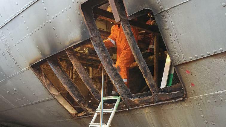 Rapport fra antikvarisk stålarbeid på Fullriggeren Sørlandet