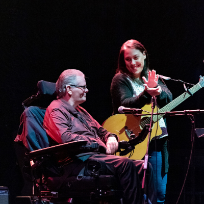 Larry Butler and Mae Murrow perform together at ReelMusic