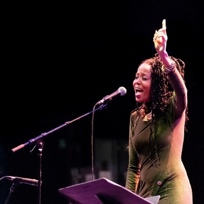 Toni Hickman performs onstage at ReelMusic 2020