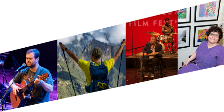 a collage of images from past ReelMusic, film and art events