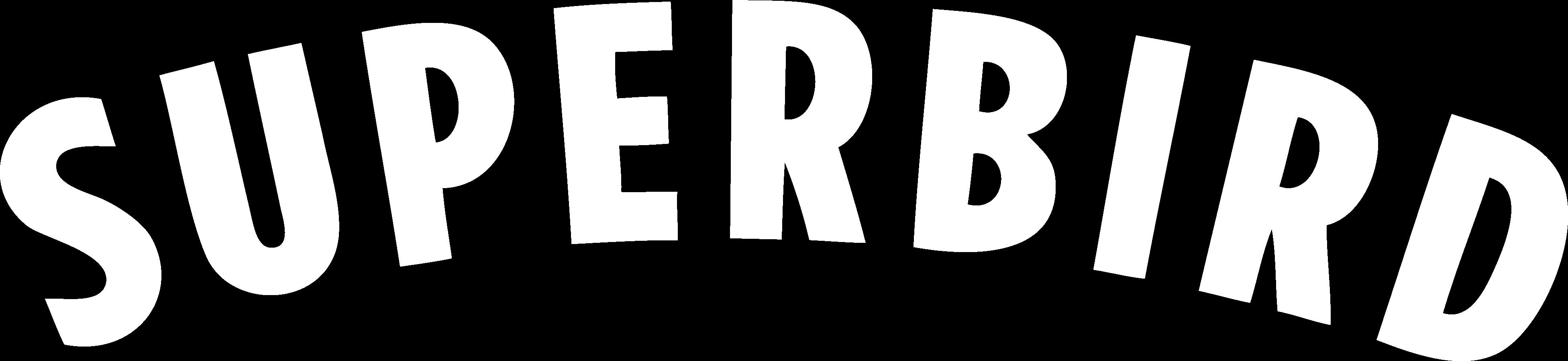 Superbird logo in white
