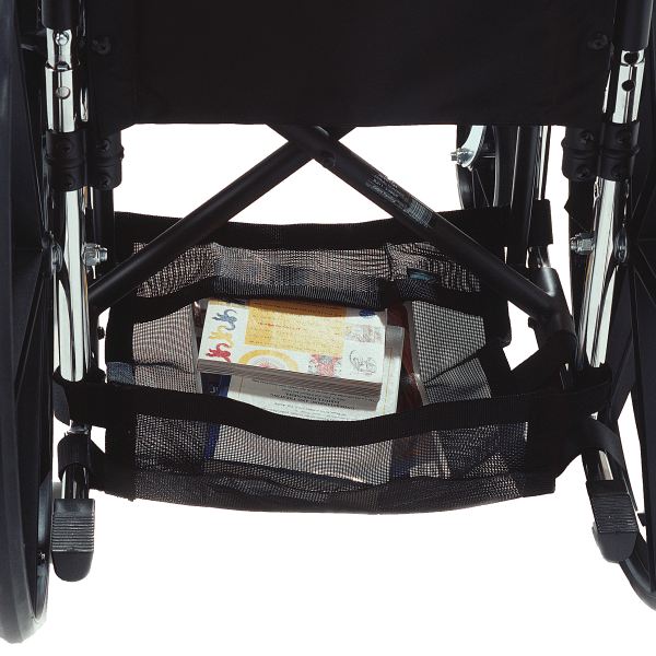 Image of the Wheelchair Underneath Carrier