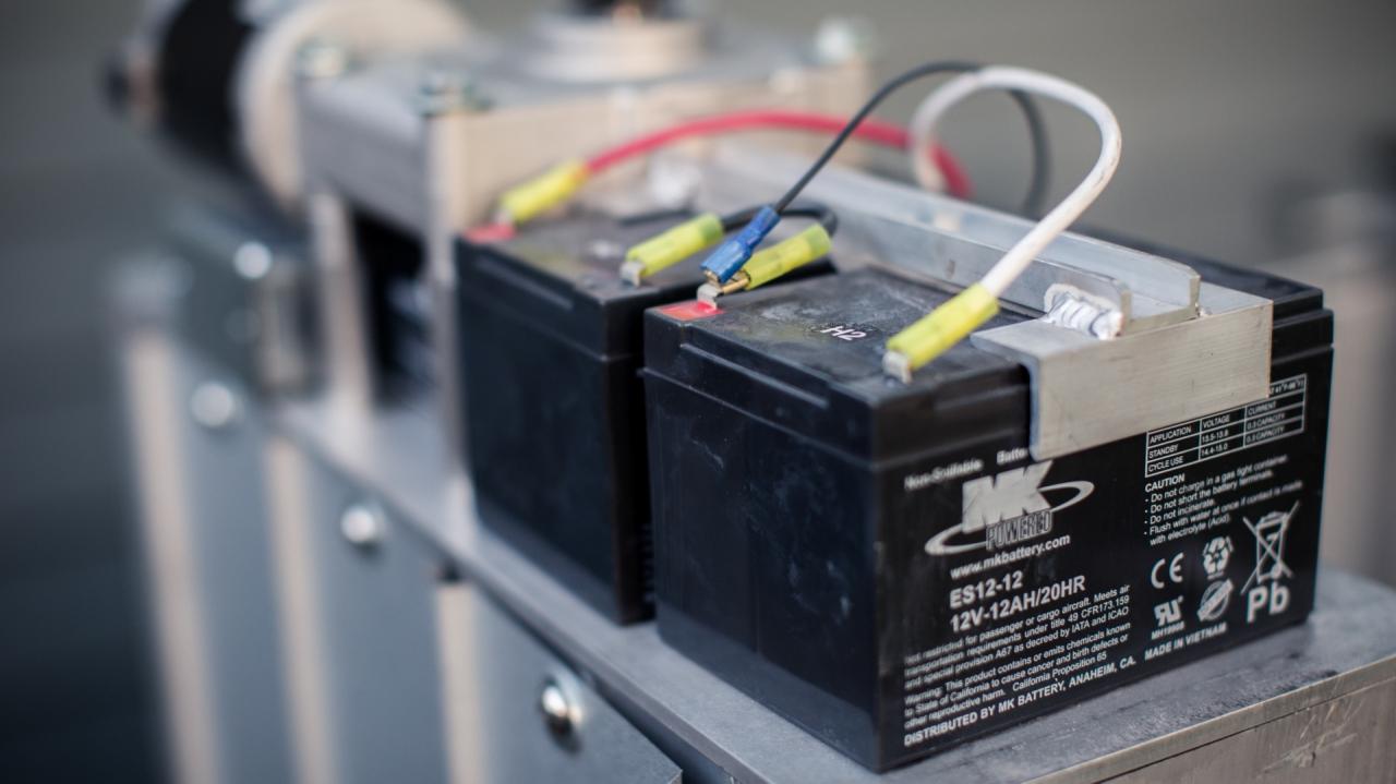 large batteries for the PASSPORT Vertical Platform Lift