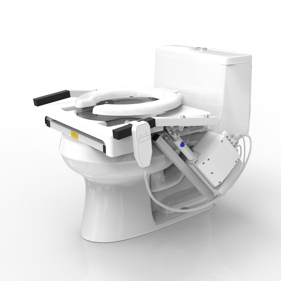High resolution rendering of the TILT on a typical toilet