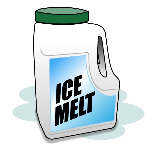 Illustration of a container of Ice Melt