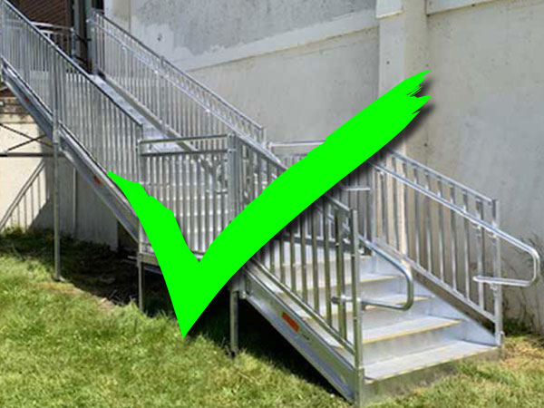 example of aluminum emergency stairs