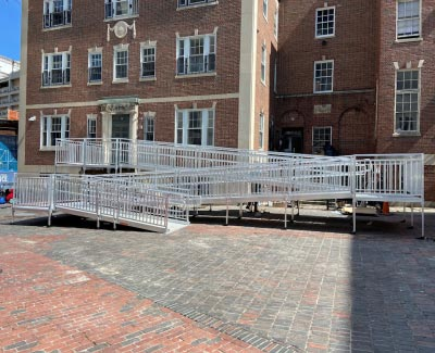 Outdoor ramp system for treatment center