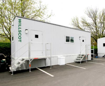 Employee office ramp systems to trailers