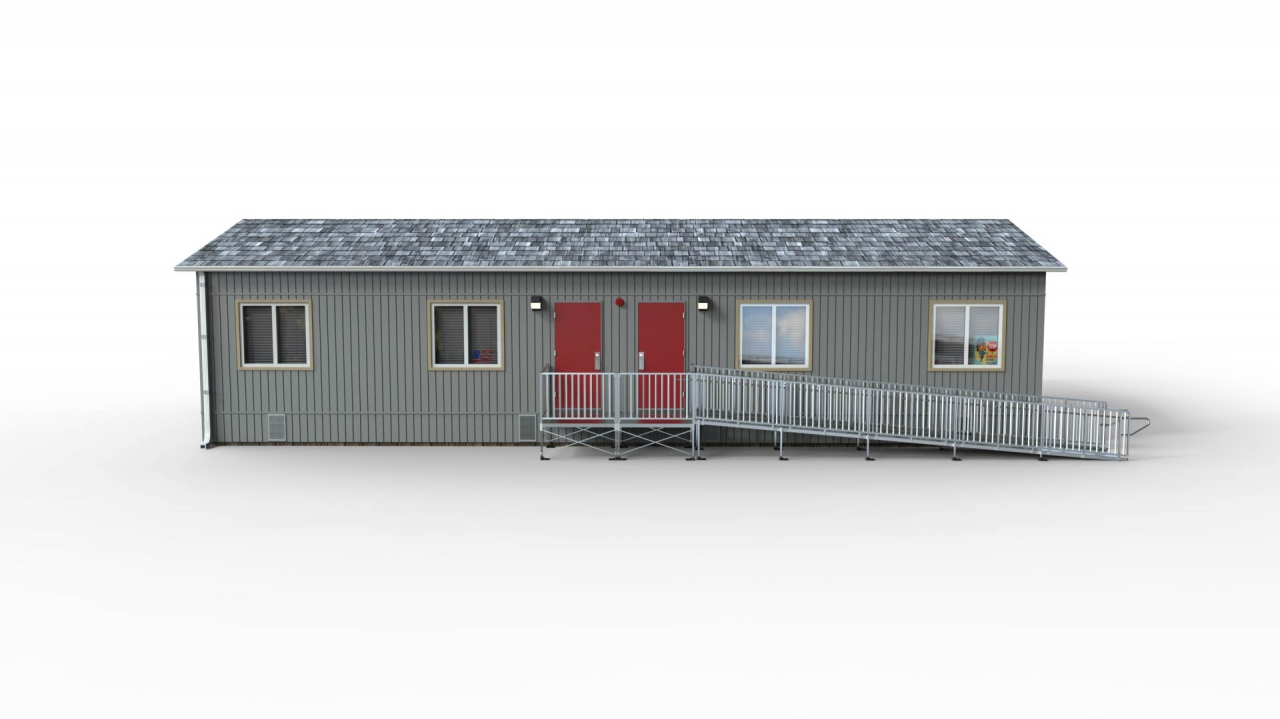 """TITANâ""""¢ Code Compliant Modular Access System Straight Ramp with Platform at the door Product Image"""