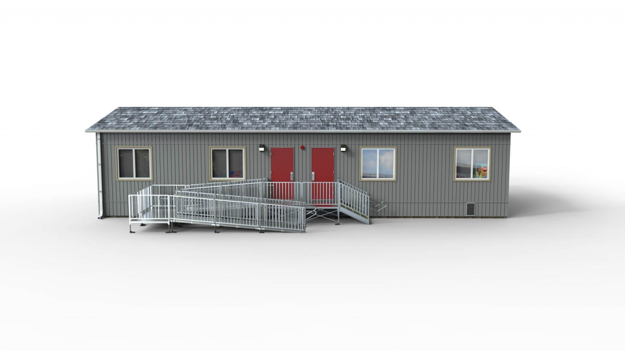"""TITANâ""""¢ Code Compliant Modular Access System ramp system that includes a switch back Product Image"""