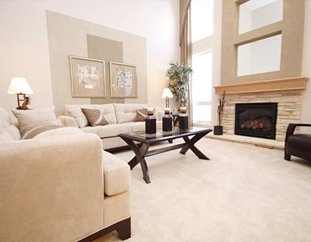 open living room in house