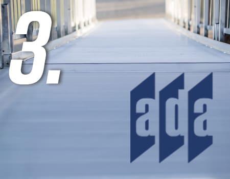 ez access aluminum ramp with ada compliance logo