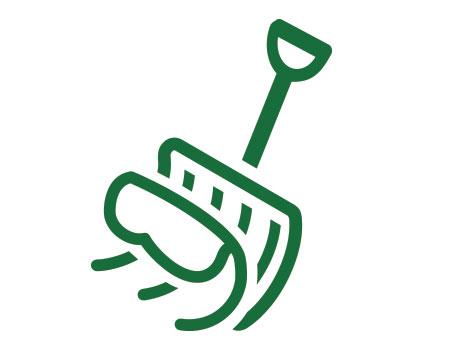 shovel scooping snow icon