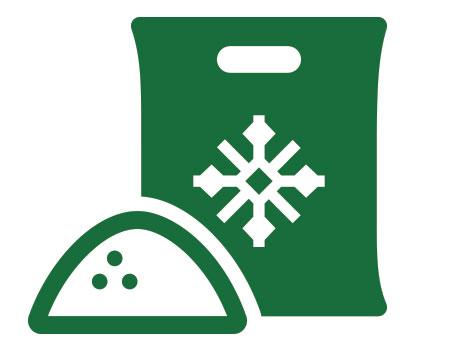bag of snow melt salt icon