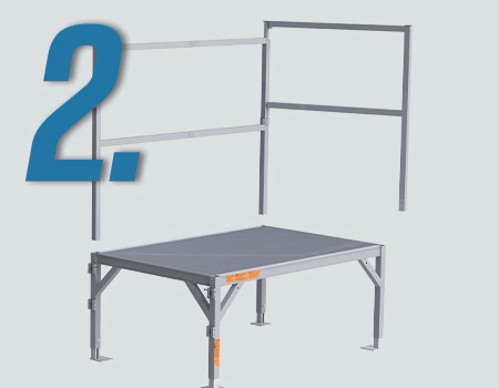 assembly of FORTRESS® OSHA Stair System