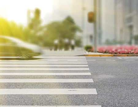 image of clear crosswalk