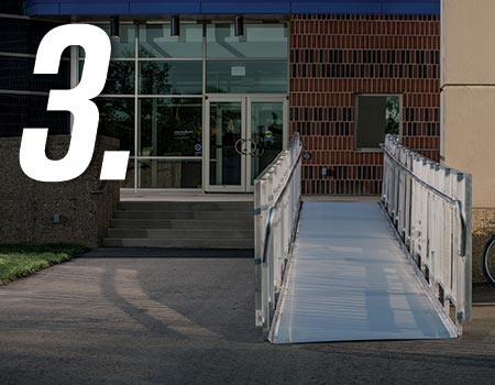 """TITANâ""""¢ ramp leading up to building entrance"""