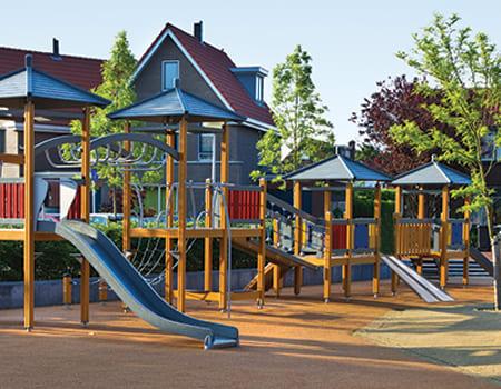 SUITCASE® Singlefold Ramp on playground system
