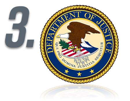 Step 3 - Department of Justice logo