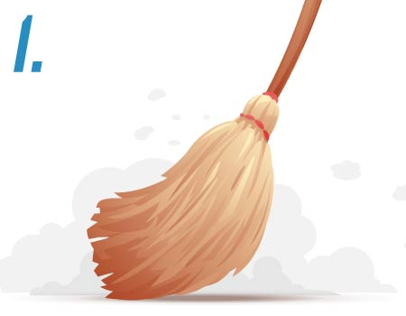 image of a broom sweeping