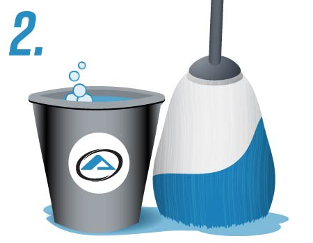 image of mop and bucket of water with EZ-ACCESS