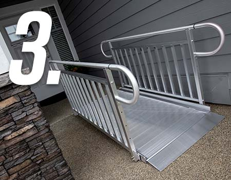 image of the new GATEWAY 3G ramp with vertical pickets & loops