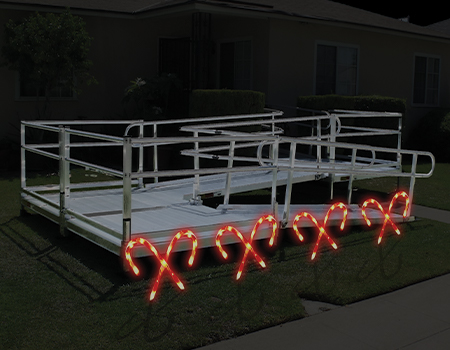 ramp with candy canes