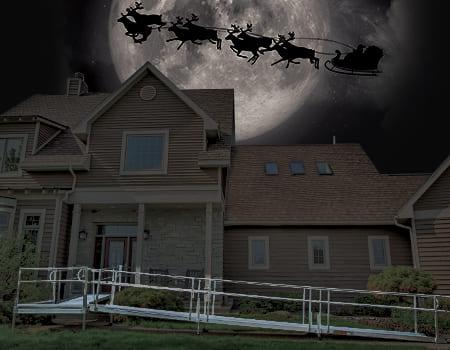 home at night santa claus