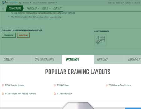 We've added a new drawings tab to our products