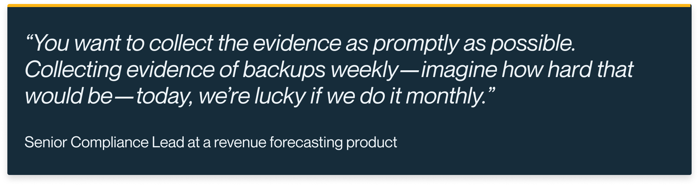 Automated Evidence Collection Customer Quote