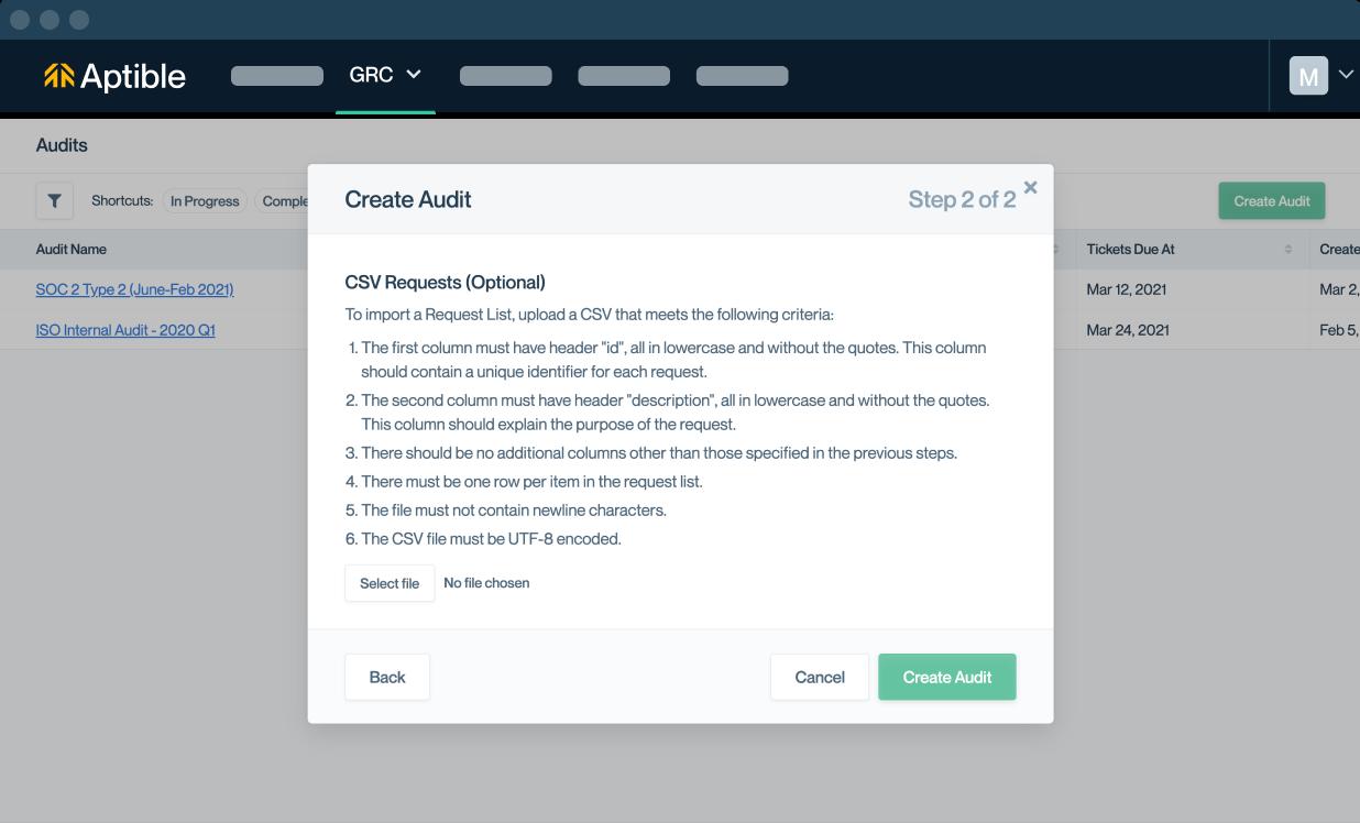 audit uploads