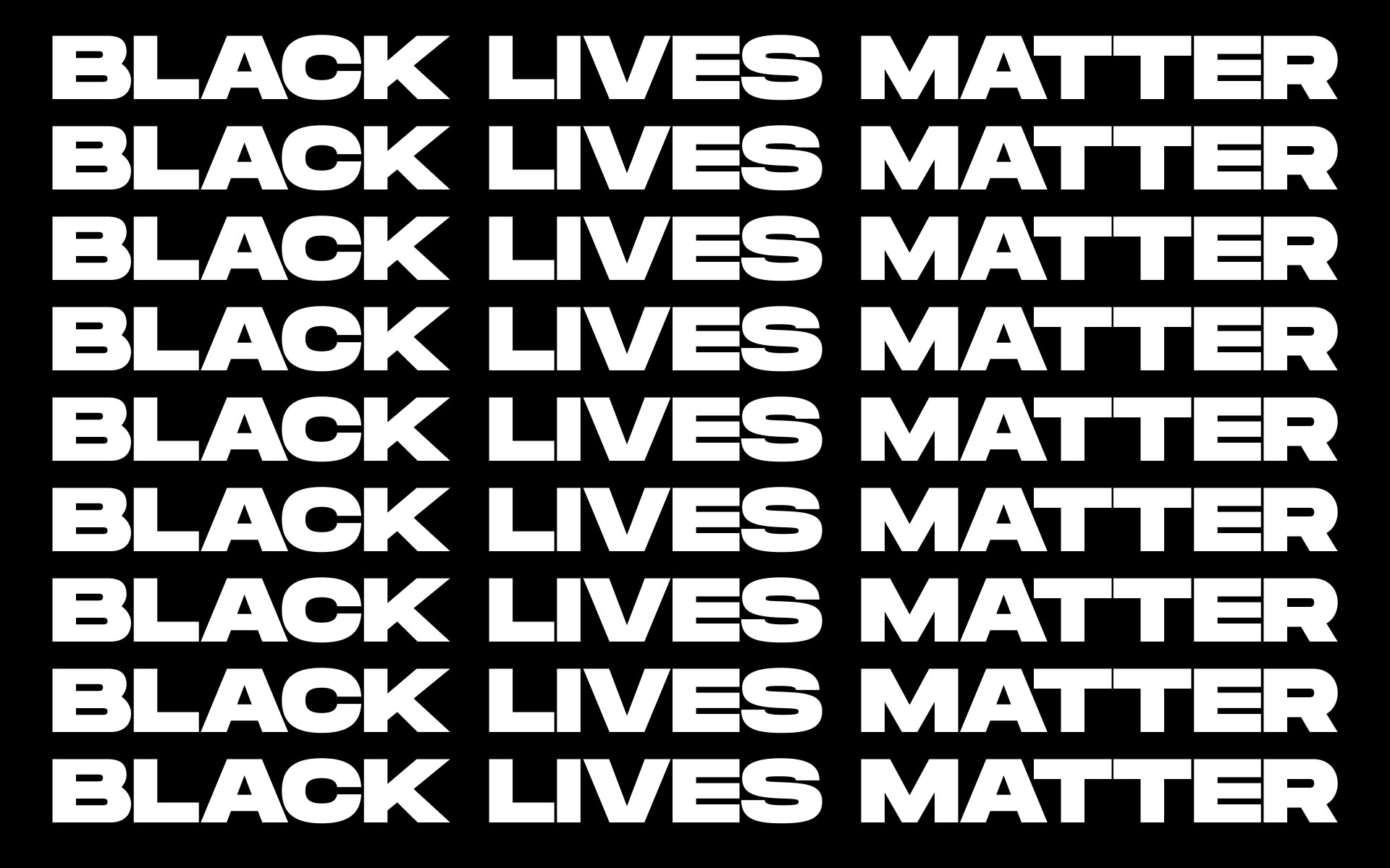 We Stand for Black Lives