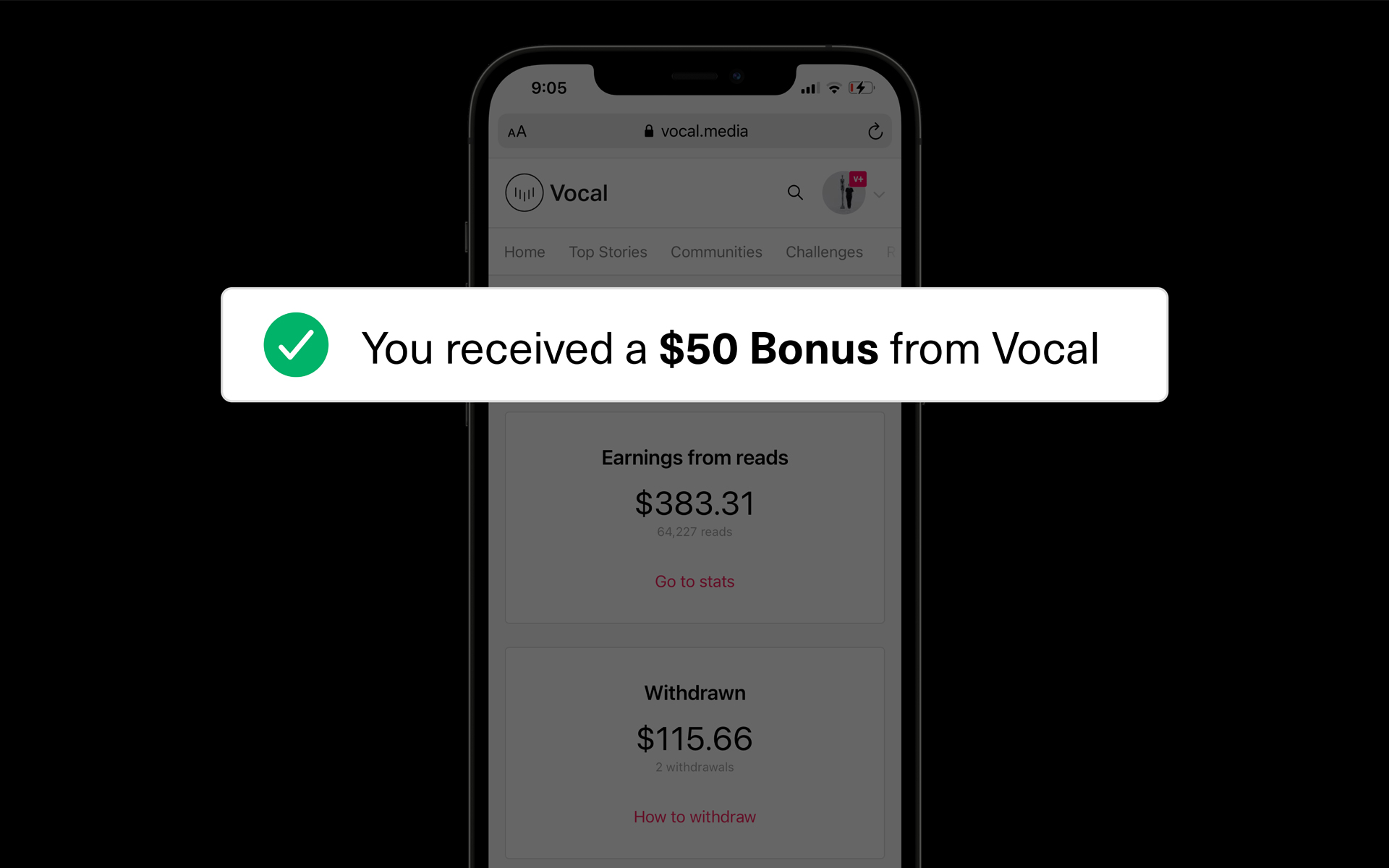 Creatd's Vocal Platform Enhances Subscribers' Earnings Power with Introduction of Creator Bonuses