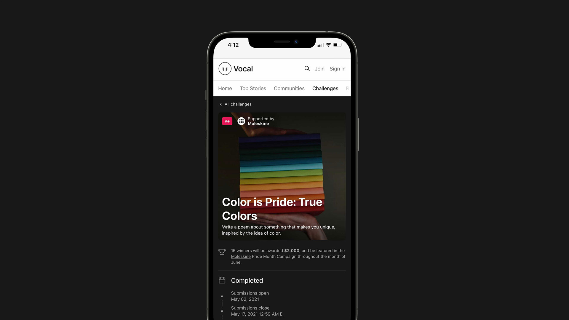 """Creatd Announces Record-Breaking Results of its Partnership with Moleskine on the """"True Colors"""" Poetry Challenge"""